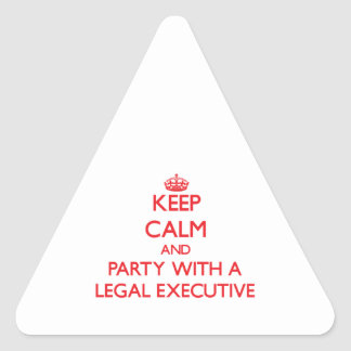 Keep Calm and Party With a Legal Executive Stickers