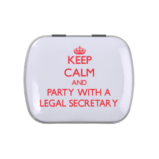 Keep Calm and Party With a Legal Secretary Jelly Belly Candy Tin