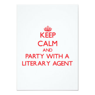 Keep Calm and Party With a Literary Agent Card