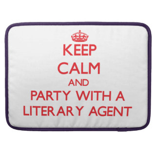 Keep Calm and Party With a Literary Agent MacBook Pro Sleeves