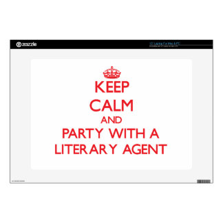 """Keep Calm and Party With a Literary Agent Skin For 15"""" Laptop"""