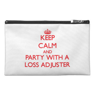 Keep Calm and Party With a Loss Adjuster Travel Accessory Bag
