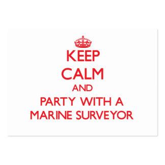 Keep Calm and Party With a Marine Surveyor Business Cards