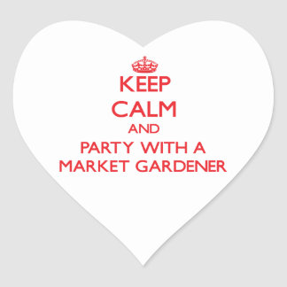 Keep Calm and Party With a Market Gardener Stickers