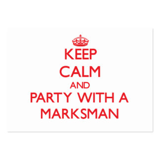 Keep Calm and Party With a Marksman Business Card Template