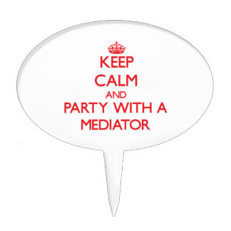 Keep Calm and Party With a Mediator Cake Picks