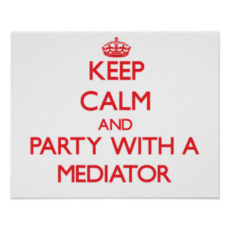 Keep Calm and Party With a Mediator Print