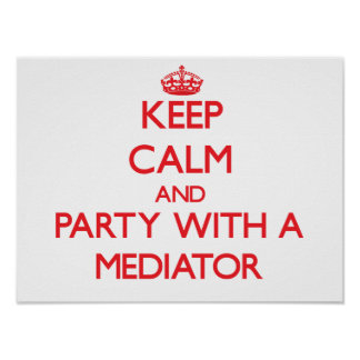Keep Calm and Party With a Mediator Posters