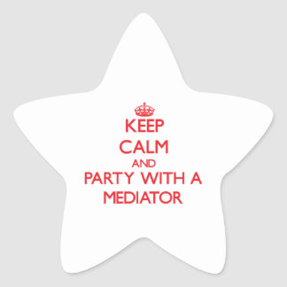 Keep Calm and Party With a Mediator Stickers