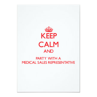 Keep Calm and Party With a Medical Sales Represent Personalized Announcement