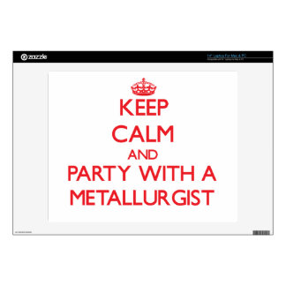 "Keep Calm and Party With a Metallurgist 14"" Laptop Decal"