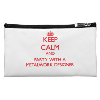 Keep Calm and Party With a Metalwork Designer Makeup Bags