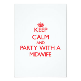 Keep Calm and Party With a Midwife Personalized Invitation