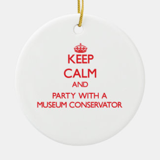 Keep Calm and Party With a Museum Conservator Christmas Tree Ornament