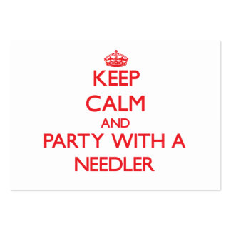 Keep Calm and Party With a Needler Business Card Template