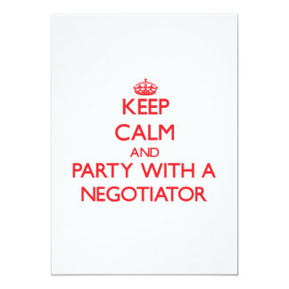Keep Calm and Party With a Negotiator Cards
