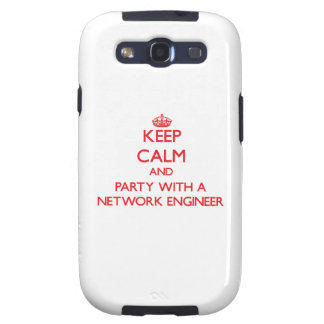 Keep Calm and Party With a Network Engineer Samsung Galaxy SIII Covers