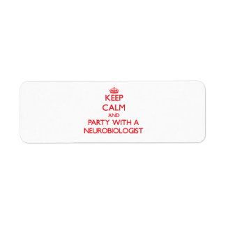 Keep Calm and Party With a Neurobiologist Labels