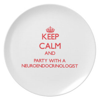 Keep Calm and Party With a Neuroendocrinologist Party Plate