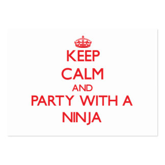 Keep Calm and Party With a Ninja Business Card Templates