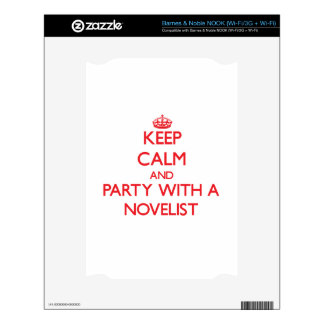 Keep Calm and Party With a Novelist Decal For NOOK