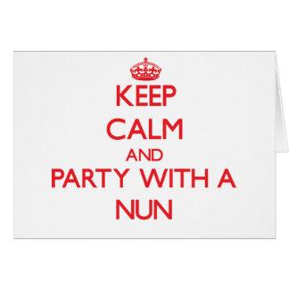 Keep Calm and Party With a Nun Card