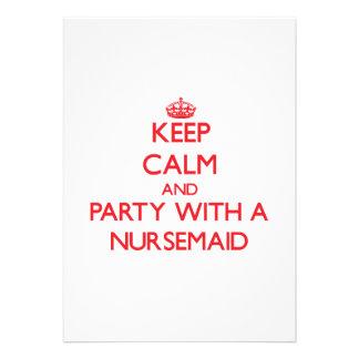 Keep Calm and Party With a Nursemaid Card