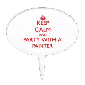 Keep Calm and Party With a Painter Cake Picks
