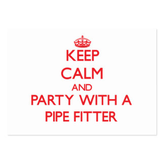 Keep Calm and Party With a Pipe Fitter Large Business Cards (Pack Of 100)