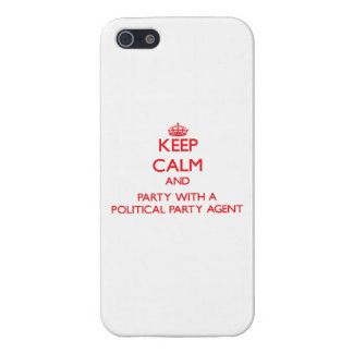 Keep Calm and Party With a Political Party Agent Case For iPhone 5/5S