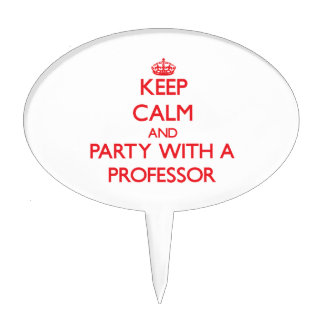 Keep Calm and Party With a Professor Cake Topper