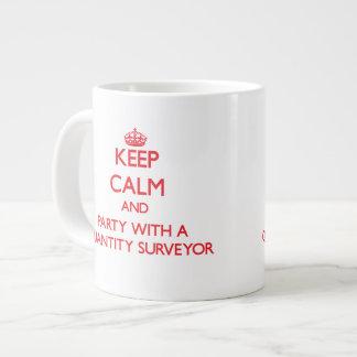 Keep Calm and Party With a Quantity Surveyor Giant Coffee Mug