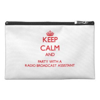 Keep Calm and Party With a Radio Broadcast Assista Travel Accessories Bags