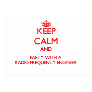Keep Calm and Party With a Radio Frequency Enginee Large Business Cards (Pack Of 100)