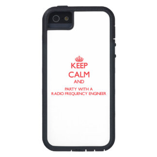 Keep Calm and Party With a Radio Frequency Enginee iPhone 5 Case
