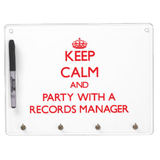 Keep Calm and Party With a Records Manager Dry-Erase Boards