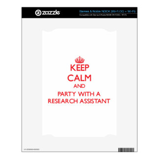 Keep Calm and Party With a Research Assistant Skins For NOOK