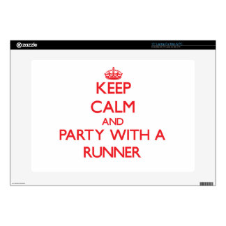 Keep Calm and Party With a Runner Laptop Decals