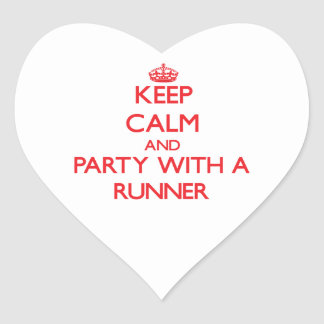 Keep Calm and Party With a Runner Heart Stickers
