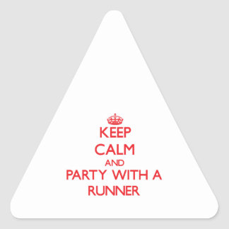 Keep Calm and Party With a Runner Triangle Stickers