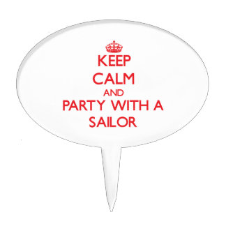 Keep Calm and Party With a Sailor Cake Toppers