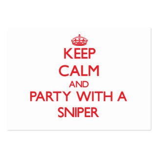 Keep Calm and Party With a Sniper Business Card Templates