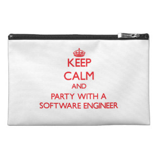 Keep Calm and Party With a Software Engineer Travel Accessories Bags