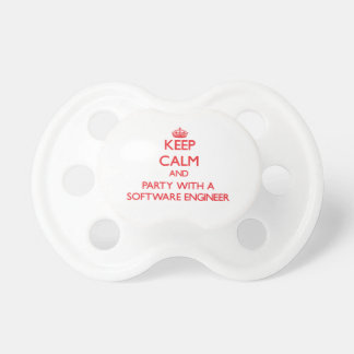 Keep Calm and Party With a Software Engineer Pacifier