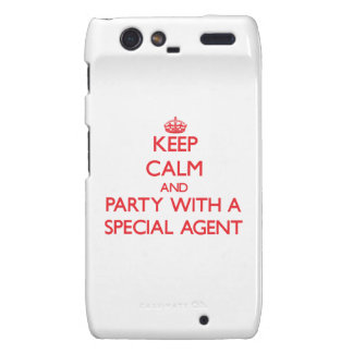 Keep Calm and Party With a Special Agent Droid RAZR Cover