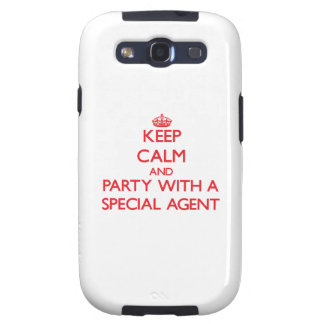 Keep Calm and Party With a Special Agent Samsung Galaxy SIII Cover