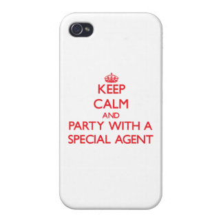 Keep Calm and Party With a Special Agent Case For iPhone 4