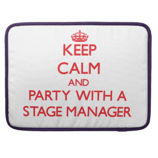 Keep Calm and Party With a Stage Manager Sleeve For MacBook Pro