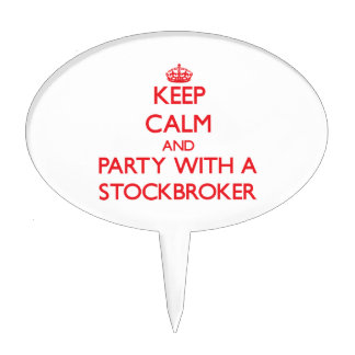 Keep Calm and Party With a Stockbroker Cake Toppers