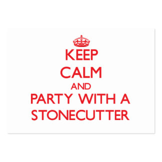 Keep Calm and Party With a Stonecutter Business Card Templates